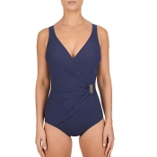 FELINA Swim Classic Shape Badeanzug Figurformer mit Schale, Blau