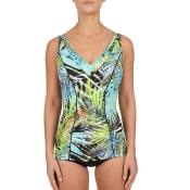 FELINA Swim Green Fig Badeanzug mit Schale, Grün