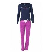LOUIS & LOUISA Pyjama Süße Momente, langarm, Blau Pink