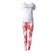 LOUIS & LOUISA Pyjama Set, Lieblingsblumen, lang, Weiß