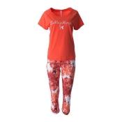 LOUIS & LOUISA Pyjama Set, Lieblingsblumen, Capri, Coralle
