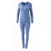 LOUIS & LOUISA Pyjama Einfach Himmlisch, Sternchen, Blau