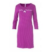 LOUIS & LOUISA Nachthemd, Süße Momente, gepunktet, Beere Pink