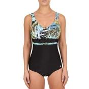 FELINA Swim Green Fig Badeanzug mit Schale, Schwarz-Grün