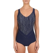 FELINA Swim Love Pearls Badeanzug mit Schale, Dunkelblau