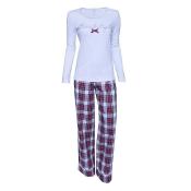 LOUIS & LOUISA Pyjama, Kuschelzeit,  Weiß