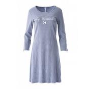 LOUIS & LOUISA Nachthemd Süß Verpackt gepunktet, Grau