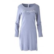LOUIS & LOUISA Nachthemd Süß Verpackt, Grau