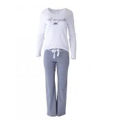 LOUIS & LOUISA Pyjama Süß Verpackt Lang, Weiß