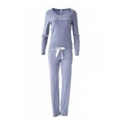 LOUIS & LOUISA Pyjama Süß Verpackt Lang, Grau