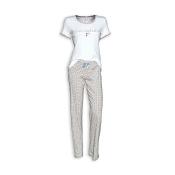 LOUIS & LOUISA Pyjama Zum Verlieben, Weiß