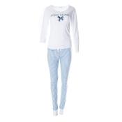 LOUIS & LOUISA Pyjama Zeit zum Träumen Bündchenhose, Weiß