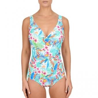 FELINA Swim Jungle Fashion Badeanzug mit Schale, Hellblau
