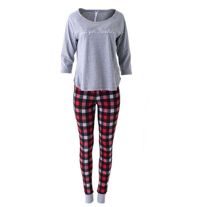 LOUIS & LOUISA Pyjama Zeit zum Kuscheln, Grau