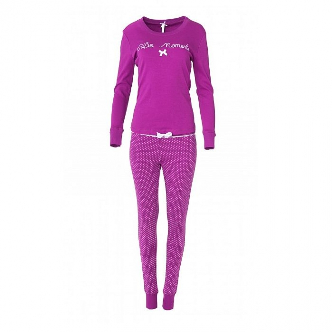 LOUIS & LOUISA Pyjama Süße Momente, langarm, Beere Pink