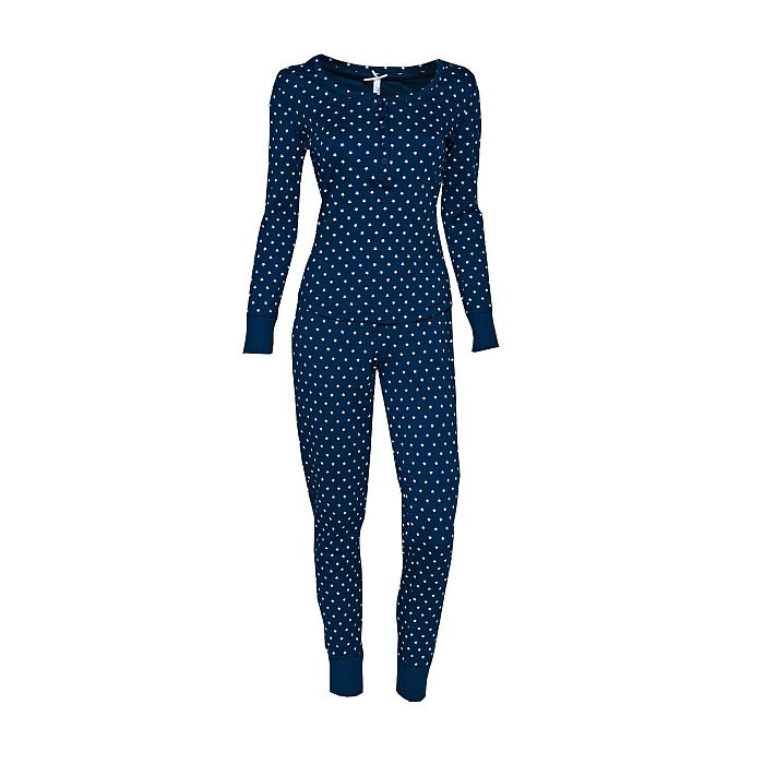 louis louisa pyjama himmlische zeiten mit b ndchen blau bh mieder figurformer shapewear. Black Bedroom Furniture Sets. Home Design Ideas