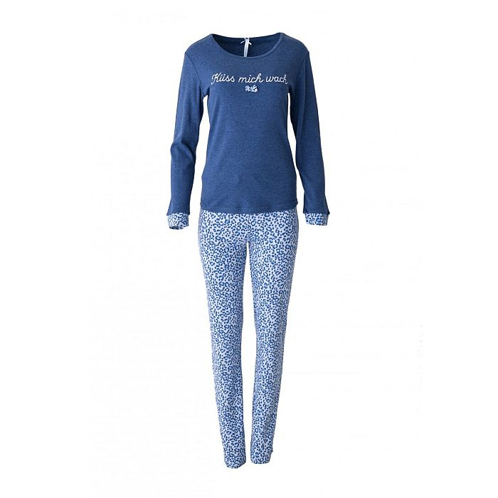louis louisa pyjama k ss mich wach lang blau bh mieder figurformer shapewear. Black Bedroom Furniture Sets. Home Design Ideas