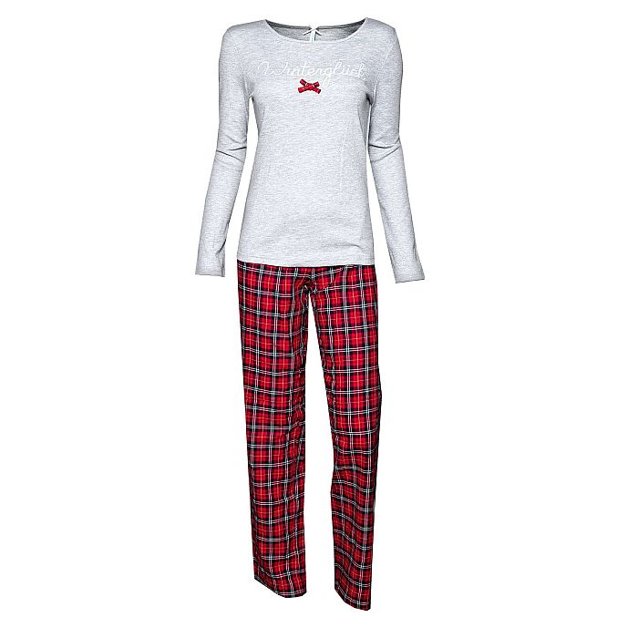 louis louisa pyjama wintergl ck flanell grau bh mieder figurformer shapewear. Black Bedroom Furniture Sets. Home Design Ideas